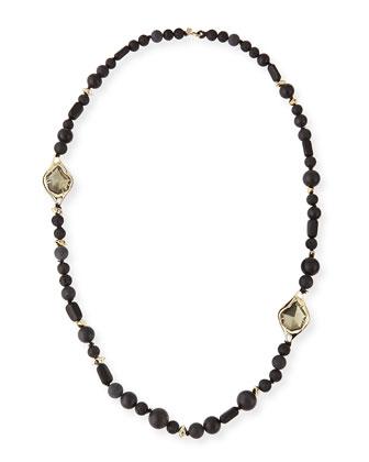 Miss Havisham Onyx Beaded Necklace, 40