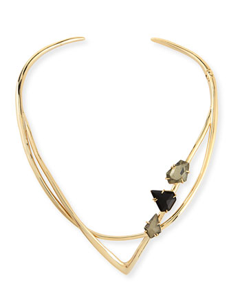 Miss Havisham Geometric Hinged Collar Necklace