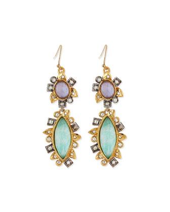 Elements Crystal Doublet Drop Earrings