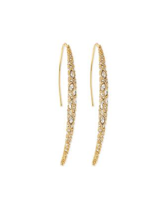 Miss Havisham Crystal Spear Earrings