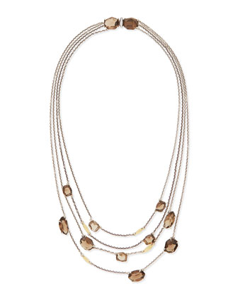 5-Strand Smoky Quartz Necklace