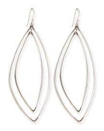 Marquise Light Silver Orbit Earrings