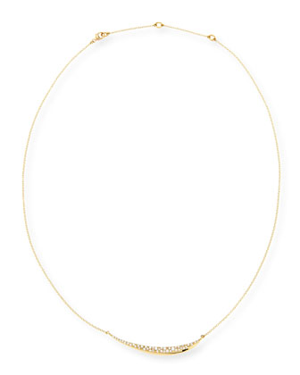 18k Gold Pave Diamond Marquise Necklace