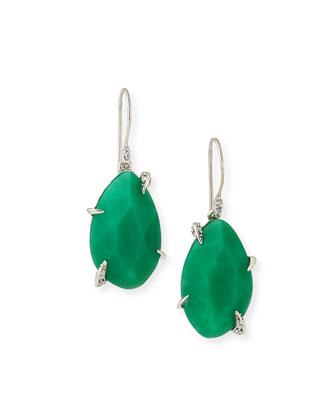 Chrysoprase Drop Earrings, Mint