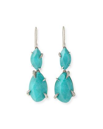 Turquoise Double-Drop Earrings