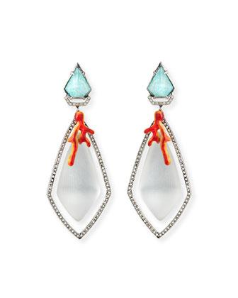 Lucite Bedarra Clip-On Earrings
