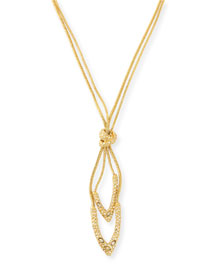 Crystal Knot Pendant Necklace