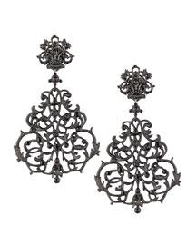 Lace Scroll Chandelier Earrings