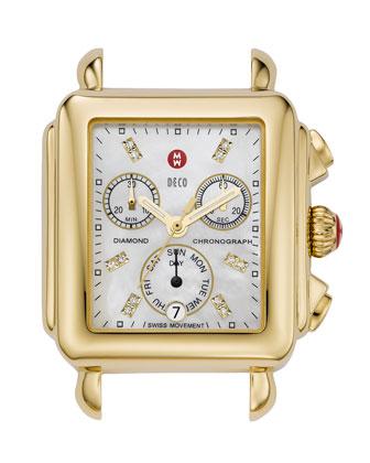 Deco Diamond Gold Watch Head