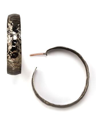 Hammered Gunmetal Earrings