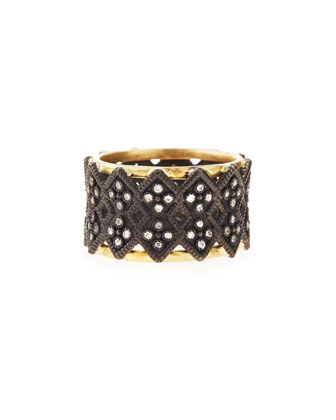 Double Cravelli Wide Band Ring