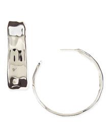 Silver-Plated Handmade Hoop Earrings