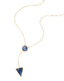 Azzurra 14k Gold Lariat Necklace