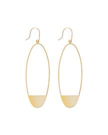 14k Small Linear Eclipse Earrings