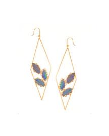 Prix Diamond-Shape Opal Hoop Earrings