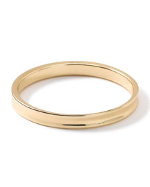 Glamazon 18k Gold Concave Bangle