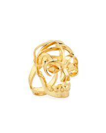 Deco Skull Large Open Ring