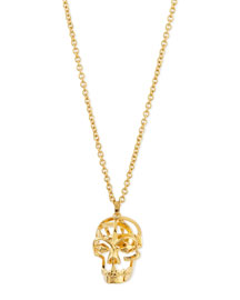 Deco Skull Pendant Necklace