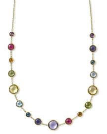 18k Gold Lollitini Multi-Stone Short Necklace