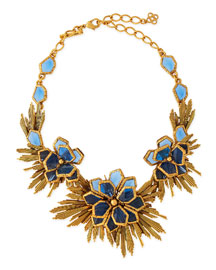 Blue Wild Flower Necklace