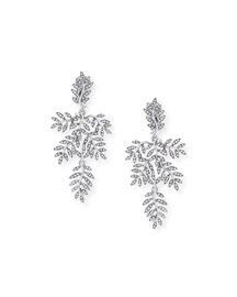 Crystal Vine Drop Clip Earrings
