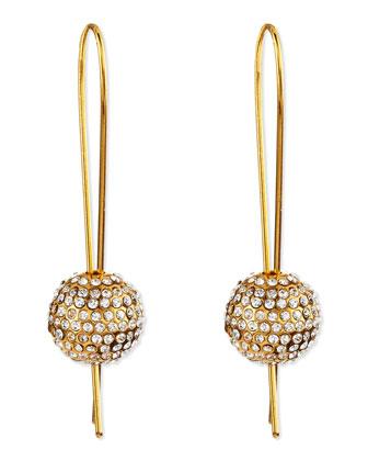 24k Gold-Plated Crystal-Sphere Earrings