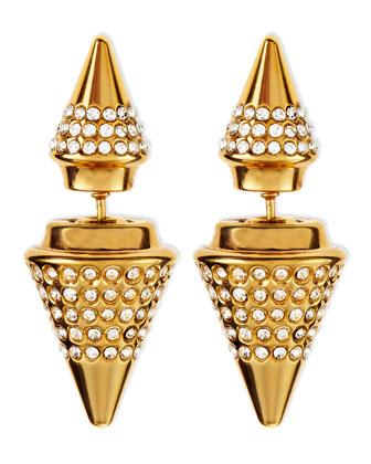 Double-Sided Crystal Titan Earrings