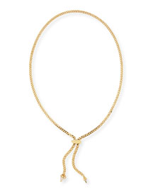 Titan Crystal Chain Lariat Necklace