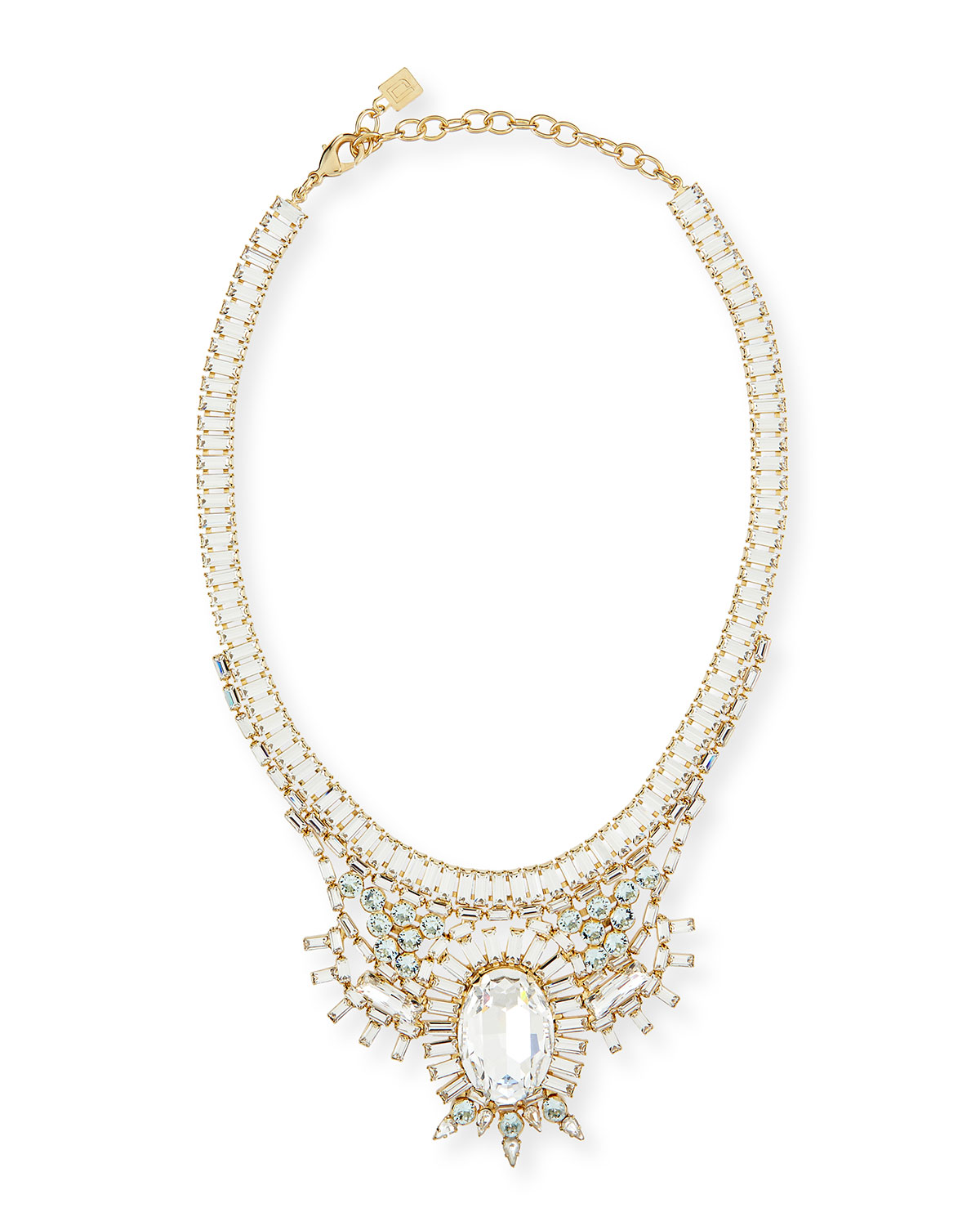 Dannijo Bodi Crystal Statement Necklace, GOLD