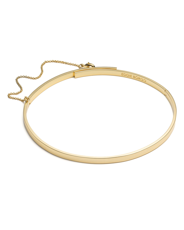 Eddie Borgo Extra-Thin Safety Chain Choker Necklace, SILVER