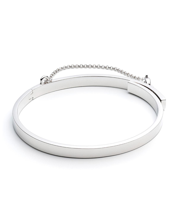 Eddie Borgo Extra-Thin Safety Chain Bracelet, SILVER