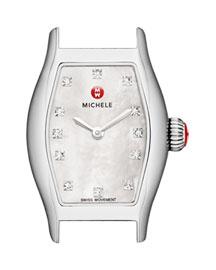 12mm Urban Coquette Diamond Dial Watch Head, Steel