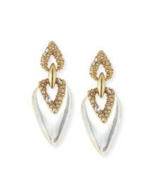 Crystal Lucite Drop Earrings
