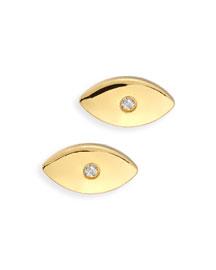 Evil Eye Diamond Stud Earrings