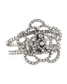 Pave Crystal Flower Bracelet