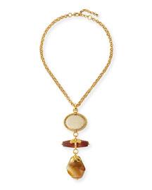 Triple-Drop Pendant Necklace, 24
