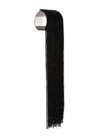 Tassel Fringe Cuff Bracelet, Black