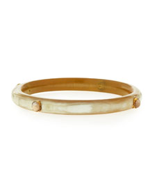 Ota Narrow Light Horn Bangle Bracelet