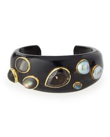 Sifa Dark Horn Cuff Bracelet