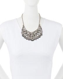 Steinem Jet Crystal Bib Necklace