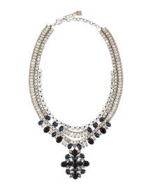 Mikhail Jet Crystal Necklace