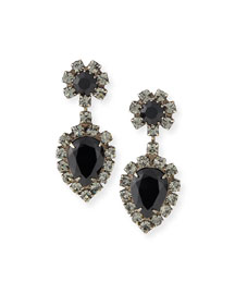 Mirabella Jet Crystal Earrings