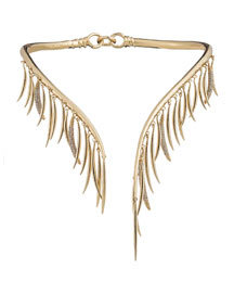 Prickle Collar Necklace with Crystals