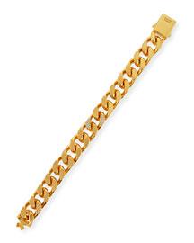 Franco Crystal Curb-Link Bracelet