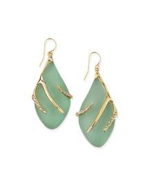Vert d'Eau Lucite Sabre Earrings