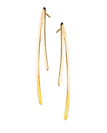 14k Elite Short Bar Reflector Earrings