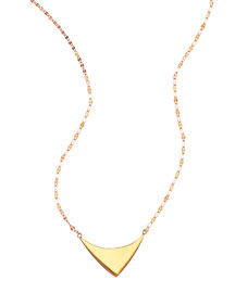 14k Elite Reflector Triangle Pendant Necklace