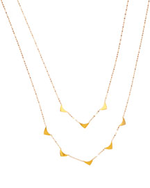 14k Elite Layered Triangle Necklace