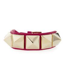 Medium Rockstud Leather Bracelet