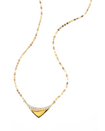 14k Electric Reflector Diamond Necklace